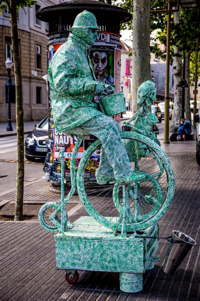Las Ramblas, Barcelona, street performer