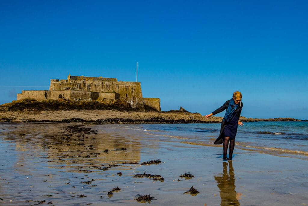 Take a walk along the beach and imagine the pirates of Saint-Malo launching their ships to harass the English