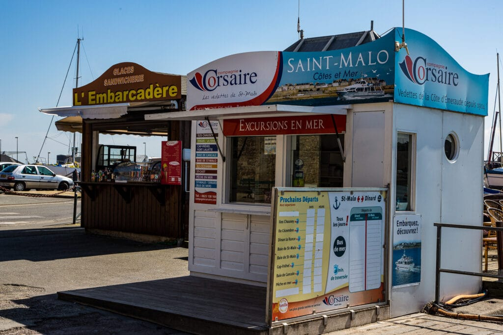 The ferry ticket office at Saint-Malo